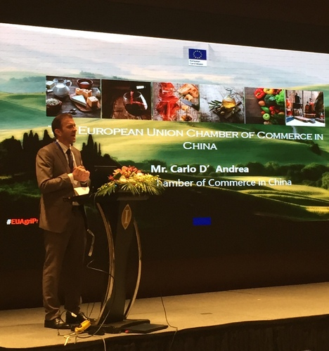 European Chamber Shanghai Board Chairman Speaks at Business Forum for European Business Delegates Accompanying AGRI Commissioner Phil Hogan to China